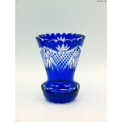 Kryształowy kobaltowy wazonik