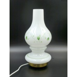 Lampa szklana malowany klosz