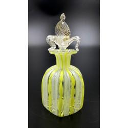 Murano Venetian Art Glass Latticino butelka na perfumy
