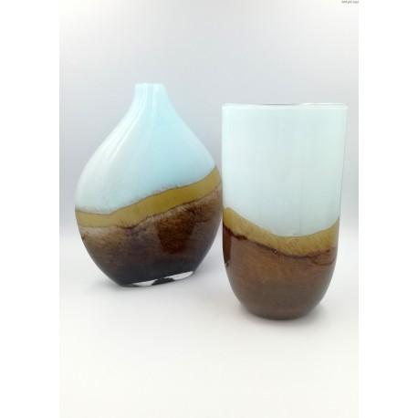 Komplet wazonów lata 70-80 te