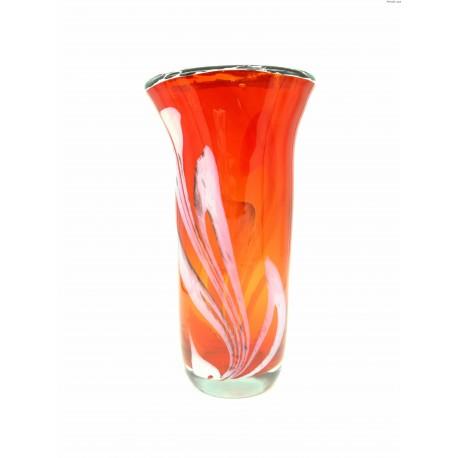 Włoski wazon w odcieniach czerwieni