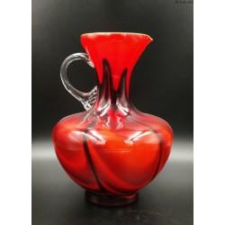 Carlo Moretti Opaline Florencja wazon dzban czerwono czarny