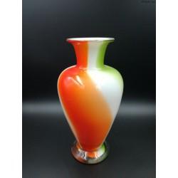 Krosno duży czerwony pękaty wazon
