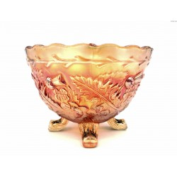 Carnival Glass złota cukiernica paterka