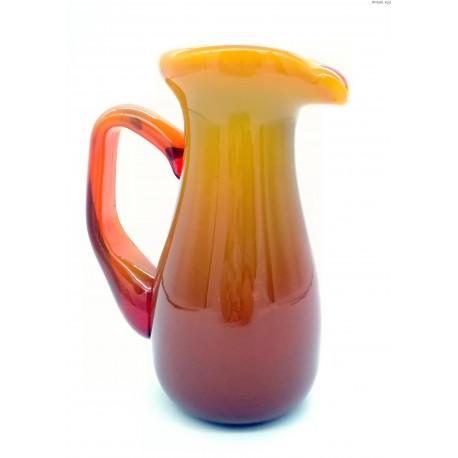 Dzbanuszek morelowy mleczne szkło