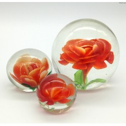 Przycisk kula kwiat komplet