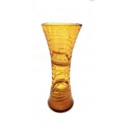 Wielki bursztynowy wazon szklana nitka