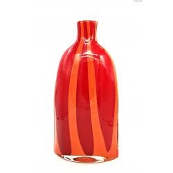 Czerwono-pomarańczowy wazon dwuwarstwowy