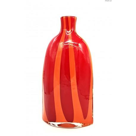 Czerwono pomarańczowy wazon dwuwarstwowy