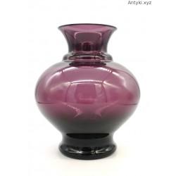 Pękaty wazon w kolorze bakłażana