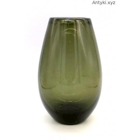 Wilhelm Wagenfeld WMF duży ciemnozielony wazon