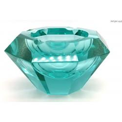 Popielnica art deco, szkło uranowe