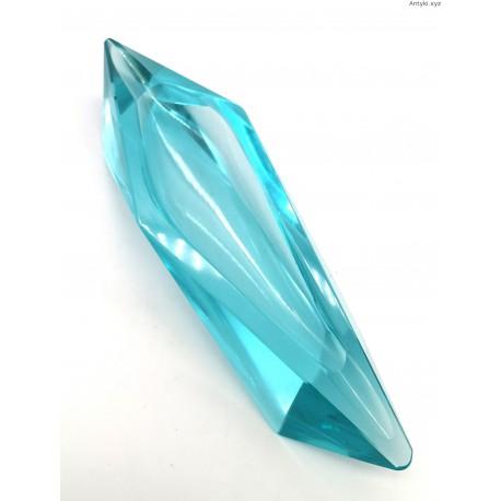 Uranowa długa popielnica art deco