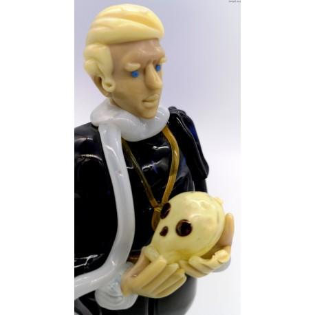 Brychta Jaroslav szklana figurka Hamleta szkło uranowe