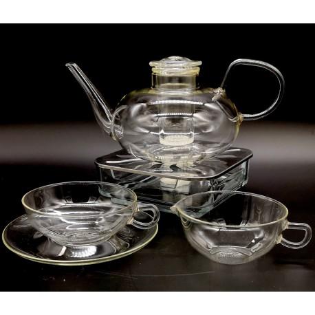 Jeaner Glas Wilhelm Wagenfeld dzbanek filiżanki zestaw do herbaty