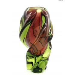 Bohemia Chribska wielki zakręcony wazon