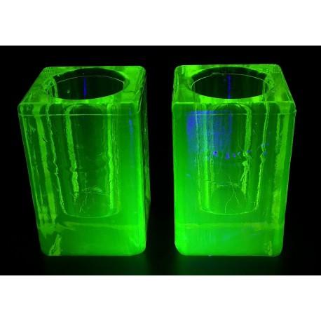 Świeczniki uranowe komplet