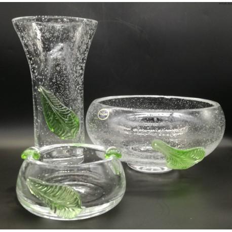 Prácheň Kamenický Šenov komplet szkieł wazon patery