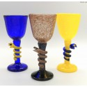 Jan Stievens Glashyttan kolorowe kielichy do wina