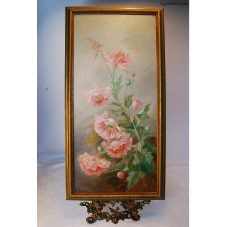 Różowe malwy
